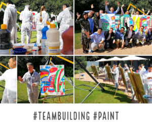 Team Building-Crazy For Team-Action Painting